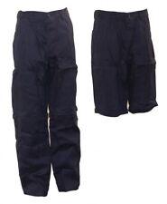 Arbeitshose Kombihose Berufshose kurze u lange Hose abzippbar dunkelblau