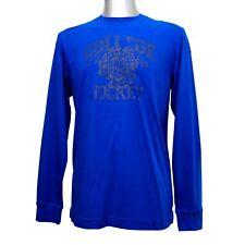 JOCKEY Herren Shirt langarm Longsleeve Langarmshirt reine Baumwolle blau
