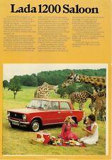 Lada 1200 Saloon 1978-79 UK Market Leaflet Sales Brochure