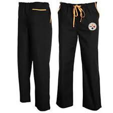 NFL Pittsburgh Steelers Unisex NFL Solid Scrub Pants, Black, Uniform