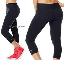 ZUMBA FITNESS Perfect Capri Leggings - Flattens your Tummy-Hidden Key Pocket S M