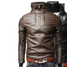 Giacca Giubbotto in Pelle Uomo Men Leather Jacket Veste Blouson Homme Cuir N5f