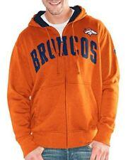 Denver Broncos Hands High Mens Huddle Full Zip Hooded Sweatshirt - Orange