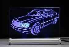 LED-Leuchtschild graviert ist W124 C124 Coupe 300 CE 24 DB als Gravur 200 230
