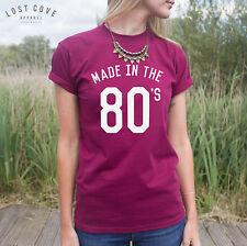 * Made in ANNI'80 T-shirt girocollo College fangirl FASHION FRESH VINTAGE *