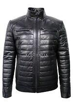Men's 9050 Navy Blue Stylish Luxury Casual Real VEGE Napa Leather Fashion Jacket