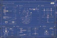 New Star Wars Rebel Alliance Fleet Blueprint Poster
