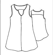 FLAX Linen TRUE TUNIC sleeveless L 1G  2G camisole tank top Cream or Black Plus