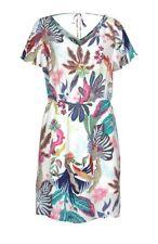 Kleid ONLY weiß bunt Blumen kurz ausgestellt Rücken Ausschnitt Gr 38 40