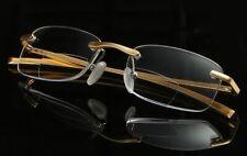 Bifocal Reading Glasses Rimless Readers Retro Gold Mens 1.0 1.5 2.0 2.5 3.0 3.5