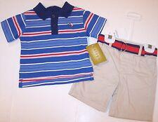 NWT Beluga Boy's Baseball Shorts Play Set Outfit, 6-9M or 12M