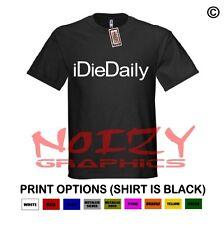 iDieDaily Christian Shirt Black T-Shirt Jesus Religious Faith Hip Hop Rock Rap