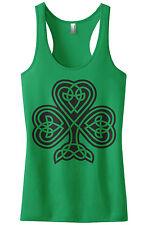 Threadrock Women's Celtic Shamrock Racerback Tank Top Irish Pride St Patrick's