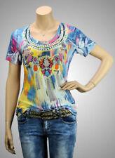 MISSY Shirt Kurzarmshirt Frühling II (Trotteln) mit Strass & Glitzer - NEU!