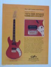 retro magazine advert 1982 G & L F1001 guitar