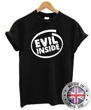 EVIL INSIDE T Shirt S-XXL geek nerd Mens Womens