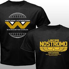 New Ridley Scot Classic Alien movie Weyland Yutani USCSS Nostromo T-shirt