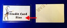 10 X tamaño de tarjeta de crédito bolsas de laminación en frío Sello Auto Laminadora Hojas