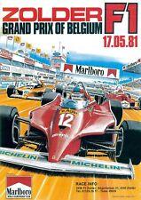 Vintage 1982 Grand Prix of Belgium Marlboro Car Racing Championship Picture