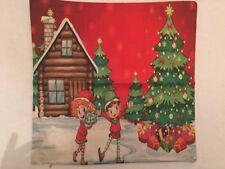 Toss Throw Pillow / Cover Christmas Elves Home Decor