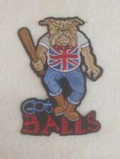 British Bull Dog - Skin Head - Biker Patch / Badge - Embroidered - Large Sew On