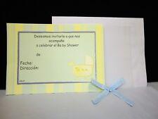 CHARMED Invitaciones de Carriola para Baby Shower AZUL, VERDE  (10/100)