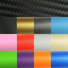 ( 7,89€/ M ²) Premium 3d Carbono Lámina para Coche Mate Canal de Aire sin