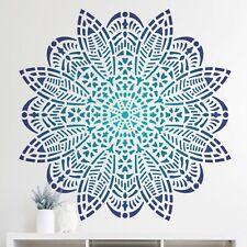Bloom Mandala Wall Stencil - Large Reusable DIY Medallion Motif Template