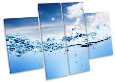 Onda de Agua Surf paisaje LONA pared arte Foto impresión de panel de múltiples