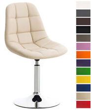 Chaise cuisine EMIL fauteuil similicuir chromé pied trompette pivotant ou tissu