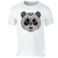 PANDA Sugar Skull SHIRT Day of the Dead Dia Los muertos Mexico T-SHIRT tee White