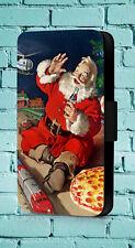 Santa Claus Vintage Coca Cola Christmas Seasonal  Phone Cover Leather Flip Case