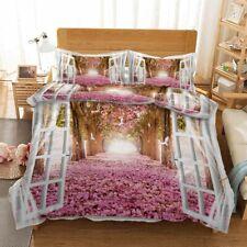Romantic Pink Bud 3D Printing Duvet Quilt Doona Covers Pillow Case Bedding Sets