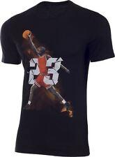 New Men's Air Jordan Retro 9 West Madison St Tee Shirt (687820-010)H  Black