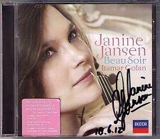 Janine Jansen firmato Beau Soir Debussy Ravel Violin Sonata Boulanger CD Golan