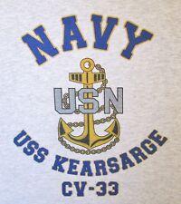 USS KEARSARGE CV-33* AIRCRAFT CARRIER U.S NAVY W/ ANCHOR* SHIRT