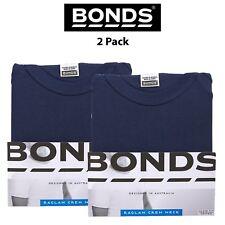 Mens Bonds Orignal Raglan 2 PACK Crew Neck Short Sleeve Shirt Tee Cotton MB3937