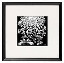 Escher canvas print butterflies giclee framed 25cmx25cm art poster reproduction