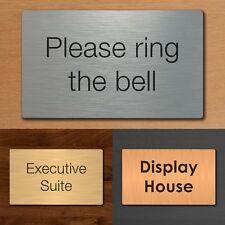 Custom Office Door Business Plaque House Number Sign Silver, Gold, Bronze Effect