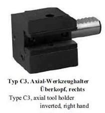 VDI Typ C3 Axial Werkzeughalter Überkopf, rechts / Toolholder C3 axial inverted