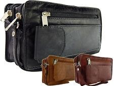 Alltägliche Handgelenktasche Leder Herrenhandtasche Dokumententasche in 3 Farben