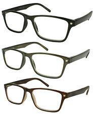Edge I-Wear New Square Frame Simple Retro Plastic Reader 540693S