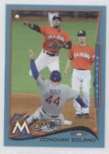 2014 Topps Wal-Mart Blue #567 Donovan Solano Miami Marlins Baseball Card