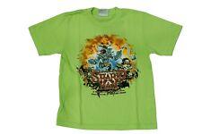 T-shirt da bambino verde MauiandSons manica corta girocollo squalo junior moda