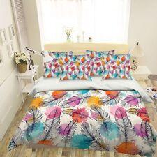 3D Black Feather 1026 Bed Pillowcases Quilt Duvet Single Queen King US Summer