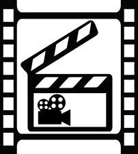Video Camera Film Decal Window Bumper Sticker Car Decor Clap Board Camera Vid