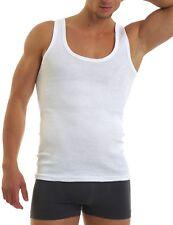 Herren Unterhemd 4er Pack Feinripp Baumwolle bequem ohne Seitennähte