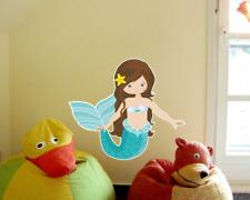 Wandtattoo Meerjungfrau Baby Tiere Kinderzimmer Wandaufkleber 5 Größen