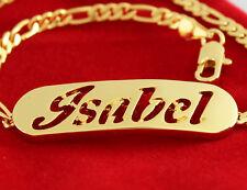 18k Plateó la Pulsera de Oro Con el Nombre - ISABEL - Regalos Para Mujeres