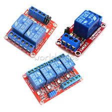 5V/9V/12V/24V 1/2/4 Channel Optocoupler Relay Support High Low Level Trigger